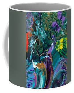 Cosmic Feathered Webbed Universe Coffee Mug