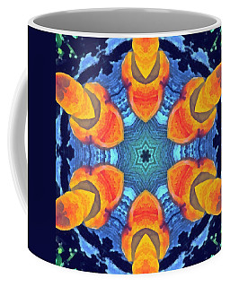 Coffee Mug featuring the painting Cosmic Fluid by Derek Gedney