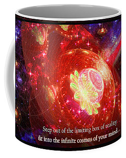 Coffee Mug featuring the mixed media Cosmic Inspiration God Source by Shawn Dall