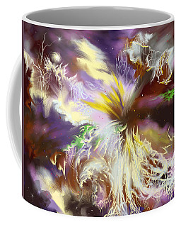 Coffee Mug featuring the digital art The Flowering Of The Cosmos by Amyla Silverflame