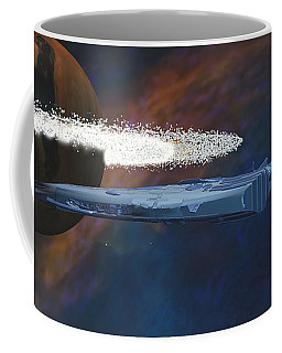 Cosmic Spaceship Coffee Mug
