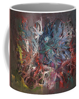 Coffee Mug featuring the painting Cosmic Web by Michael Lucarelli