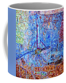 Coffee Mug featuring the painting Cosmodrome by Dominic Piperata