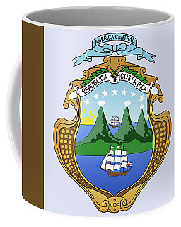 Coffee Mug featuring the drawing Costa Rica Coat Of Arms by Movie Poster Prints