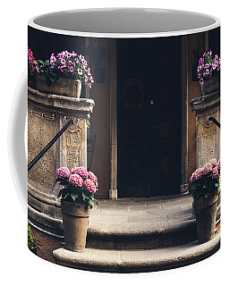 Cosy Entrance To An Old Tenement Building In Gdansk, Poland. Coffee Mug