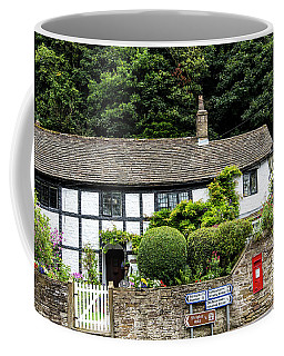 Traditional Cheshire Cottage At The Crossroad Coffee Mug