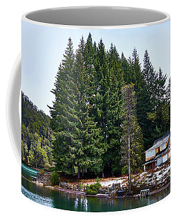 Little Cottage And Pines In The Argentine Patagonia Coffee Mug