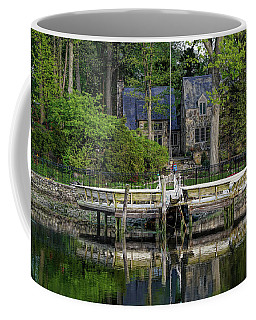 Cottage On Saugatuck River Ct By Mike-hope Coffee Mug