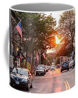 Cottage Street Summer Sunset Coffee Mug