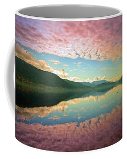 Coffee Mug featuring the photograph Cotton Candy Clouds At Skaha Lake by Tara Turner