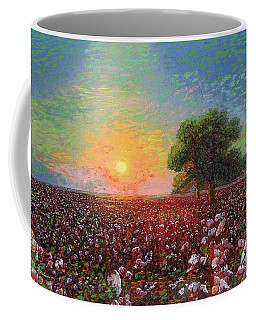 Cotton Field Sunset Coffee Mug