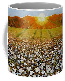 Cotton Field Sunset Coffee Mug by Jeanette Jarmon