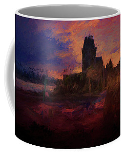 Coffee Mug featuring the digital art Coucher De Soleil Sur Solidor by Karo Evans