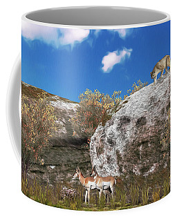Cougar From Above Coffee Mug by Walter Colvin