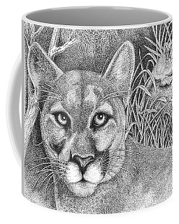 Cougar Coffee Mug by Lawrence Tripoli