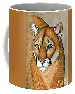 Cougar Portrait Coffee Mug