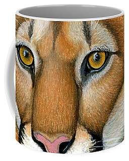 Cougar Portrait Coffee Mug