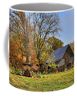 Country Barn And A Pink Flamingo By H H Photography Of Florida Coffee Mug