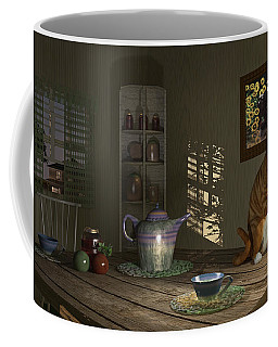 Coffee Mug featuring the digital art Country Cat by Mary Almond