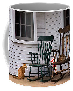 Coffee Mug featuring the photograph Country Cats by Robin-Lee Vieira