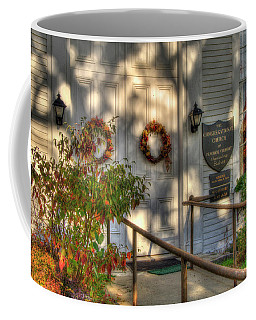 Coffee Mug featuring the photograph Country Church In Autumn - Vermont Fall by Joann Vitali