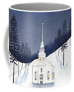 Country Church In Moonlight 2, Silent Night Coffee Mug