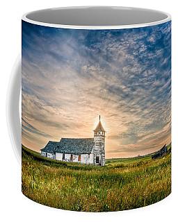 Country Church Sunrise Coffee Mug by Rikk Flohr