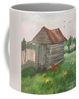 Country Corncrib Coffee Mug by Lucia Grilletto