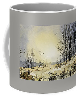 Coffee Mug featuring the painting Country Dawn by James Williamson