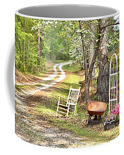 Country Driveway In Springtime Coffee Mug