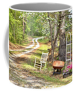 Coffee Mug featuring the photograph Country Driveway In Springtime by Gordon Elwell