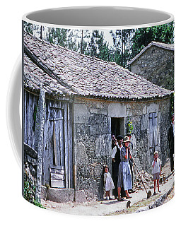 Coffee Mug featuring the photograph Country House And Family by Samuel M Purvis III