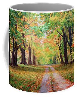 Country Lane - A Walk In Autumn Coffee Mug