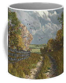 Country Lane In Fall Coffee Mug