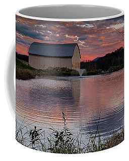 Coffee Mug featuring the photograph Country Living Sunset Cropped by Lara Ellis