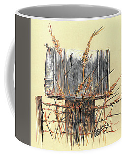 Country Mailbox In Colored Pencil Coffee Mug