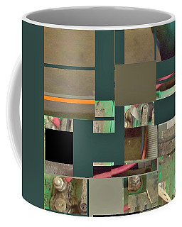 Country Mosaic Coffee Mug by Andrew Drozdowicz