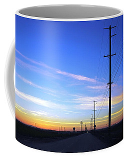 Coffee Mug featuring the photograph Country Open Road Sunset - Blue Sky by Matt Harang