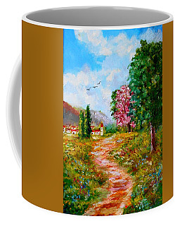 Country Pathway In Greece Coffee Mug