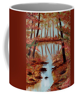 Coffee Mug featuring the painting Country Reflections by Leslie Allen