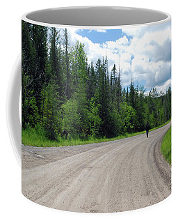 Coffee Mug featuring the photograph Country Road by Gary Wonning