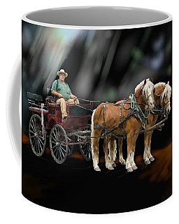 Country Road Horse And Wagon Coffee Mug