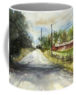 Country Road Coffee Mug by Judith Levins