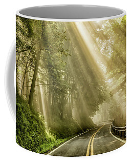 Coffee Mug featuring the photograph Country Road Rays Of Light by Thomas R Fletcher