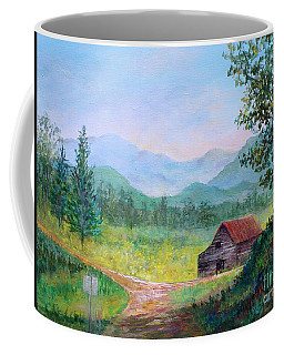 Country Roads Coffee Mug by Lou Ann Bagnall