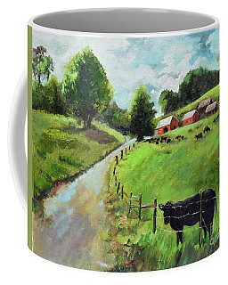 Coffee Mug featuring the painting Country Roads Of Georgia- Ellijay Rural Scene by Jan Dappen