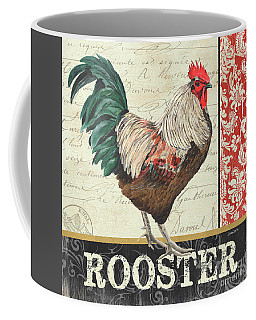 Coffee Mug featuring the painting Country Rooster 1 by Debbie DeWitt