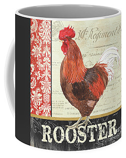 Coffee Mug featuring the painting Country Rooster 2 by Debbie DeWitt