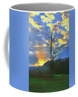 Country Sunset On Wood Coffee Mug by Dan Sproul