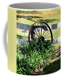 Country Wagon Wheel Coffee Mug